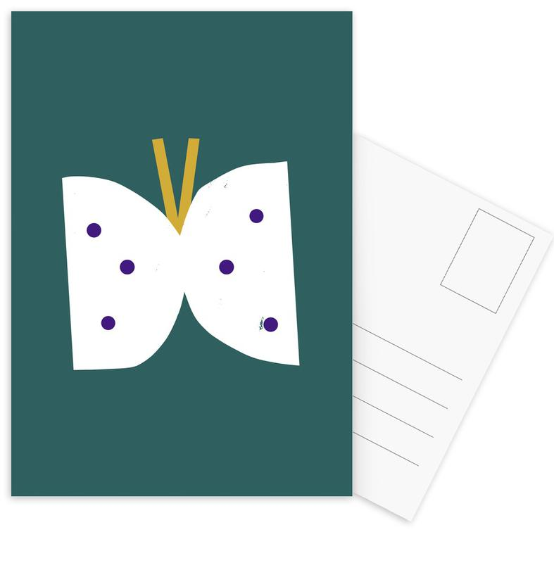 Kunst voor kinderen, Butterfly ansichtkaartenset