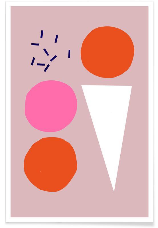 Kunst voor kinderen, Ice Cream poster