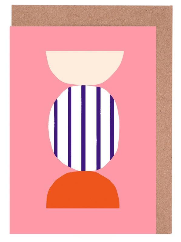 , Candy -Grußkarten-Set