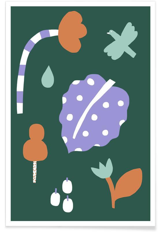 Feuilles & Plantes, Flora & Fauna affiche