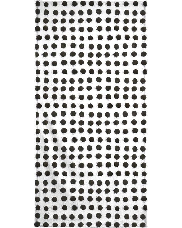 Zwart en wit, Patronen, Ink Dots handdoek