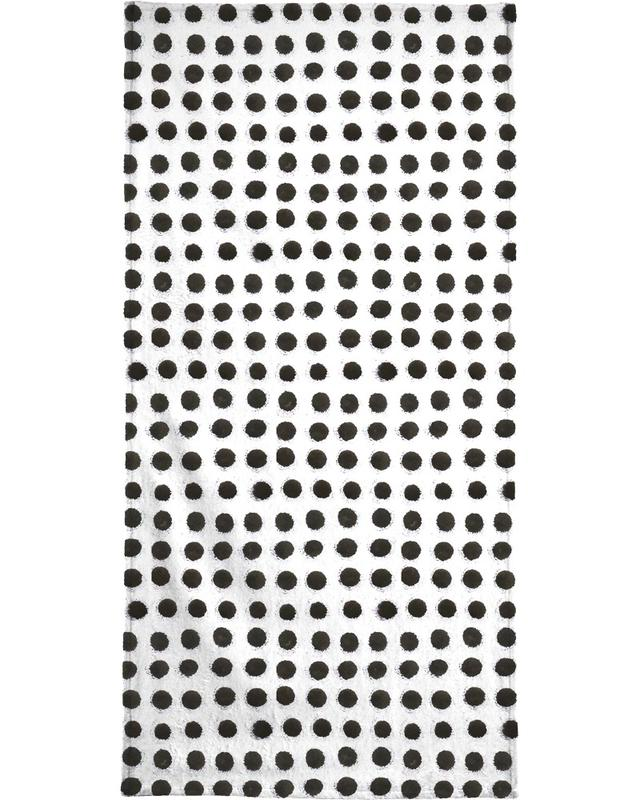 Ink Dots Beach Towel
