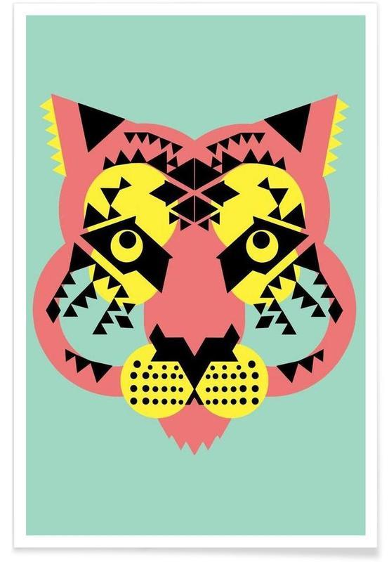 Abstract Tiger Poster