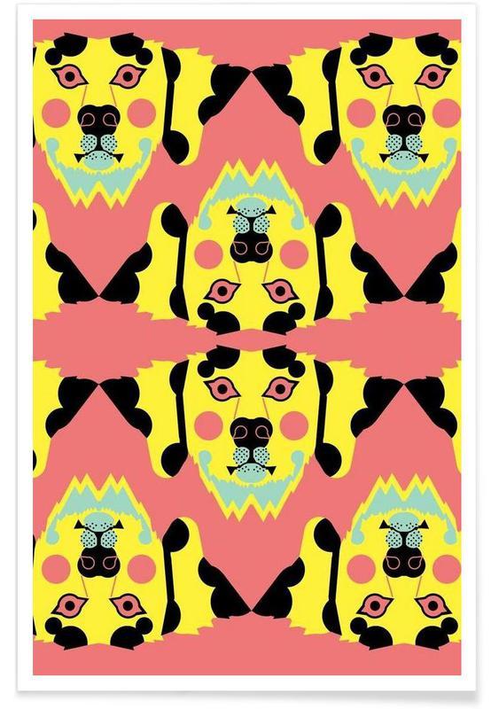 Dalmatiner – abstrakt -Poster