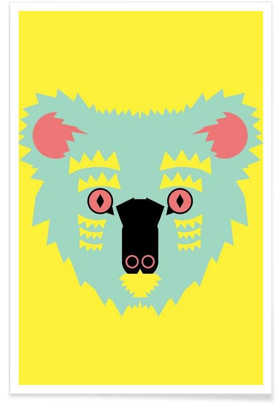 Koalas, Art pour enfants, Koala - Abstrait affiche