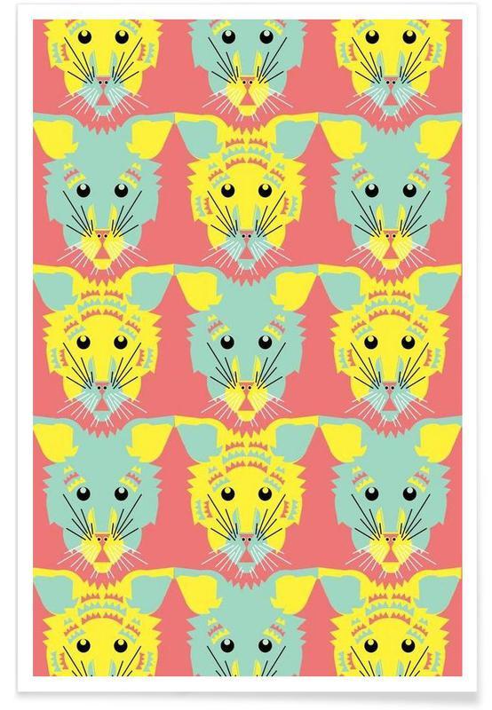 Abstract Kitten Poster