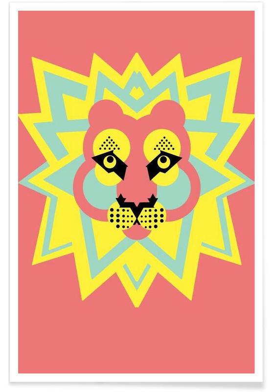 Art pour enfants, Roi Lion - Abstrait affiche