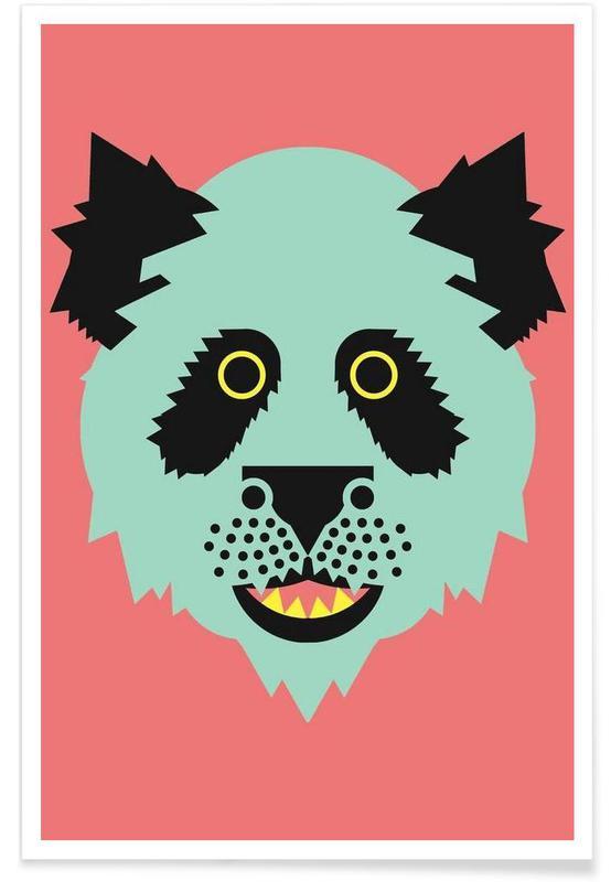 Art pour enfants, Panda - Abstrait affiche