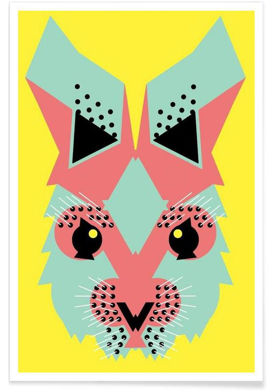 Abstract Rabbit Poster