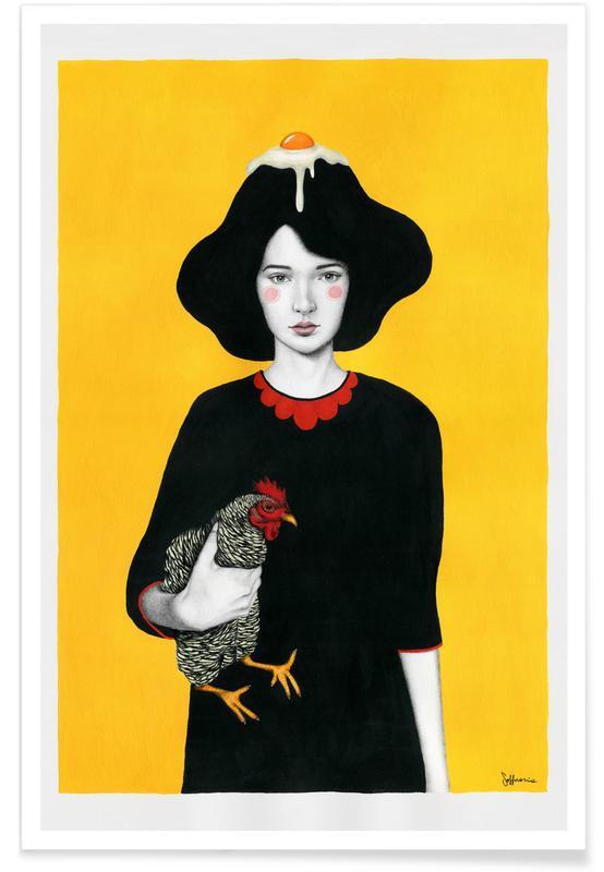 Portraits, Illustrations de mode, Maya affiche