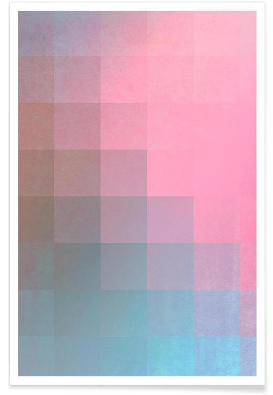 , Girly Pixel Surface affiche