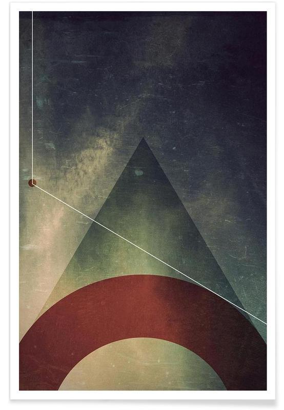 Triangle circle half poster