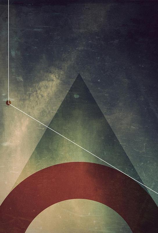 Triangle circle half Acrylic Print