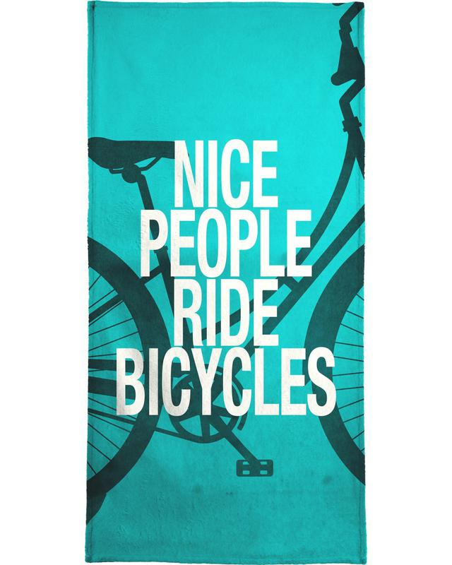 Nice people ride bicycles -Handtuch