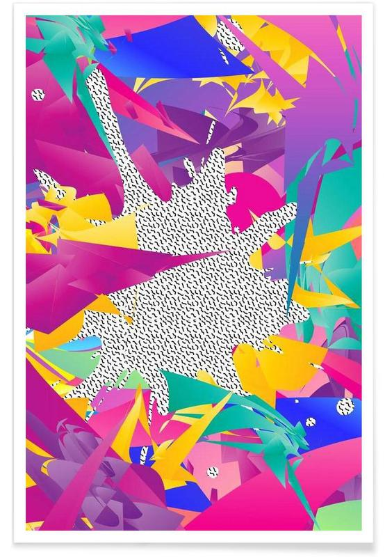 , 80's Abstract affiche
