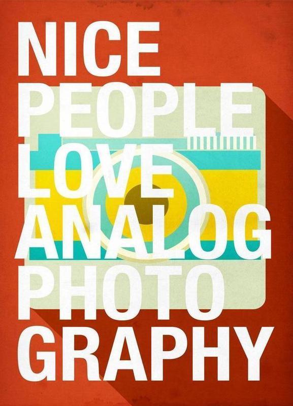 Nice people love analog photos -Leinwandbild
