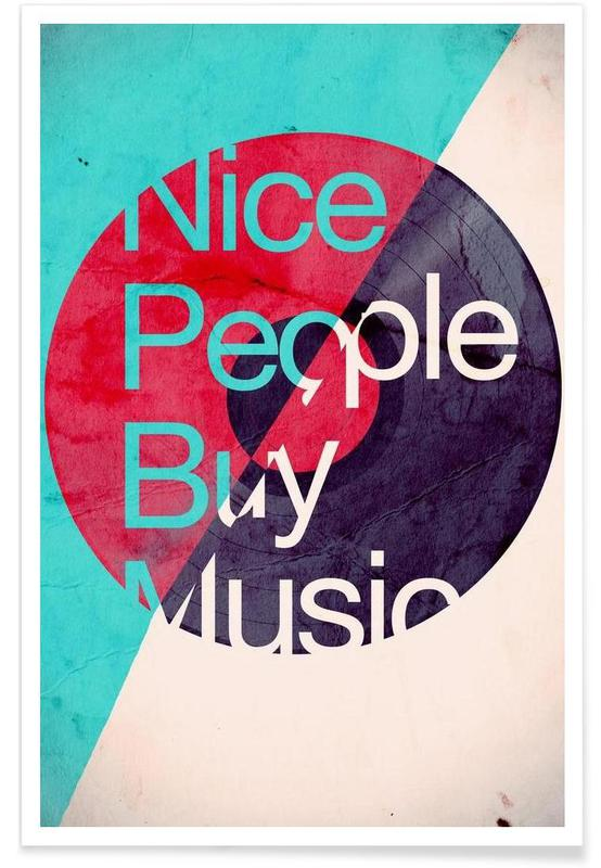 Nice people buy music affiche