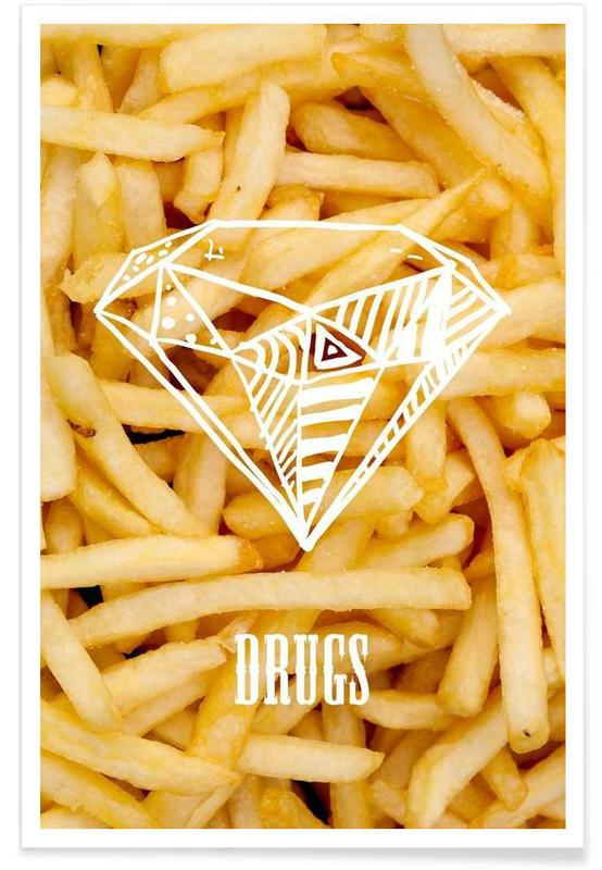 Diamonds and French Fries -Poster