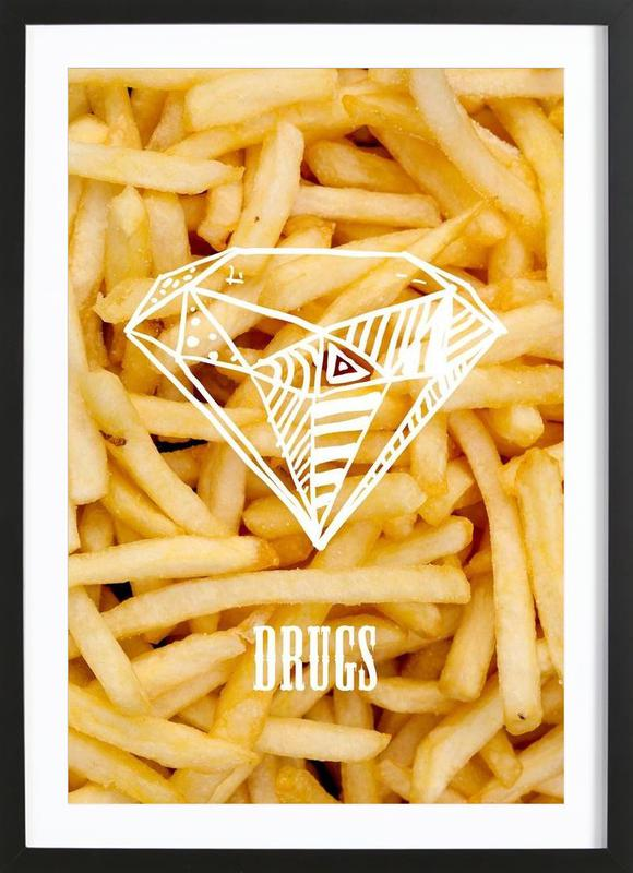 Diamonds and French Fries Framed Print