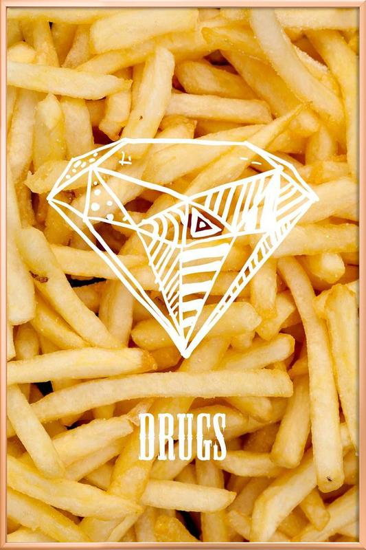 Diamonds and French Fries Poster in Aluminium Frame