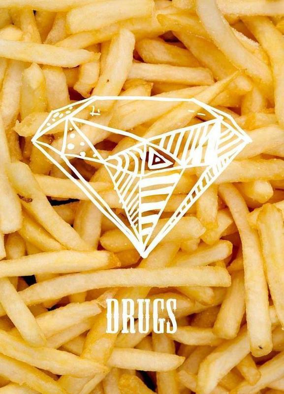 Diamonds and French Fries -Leinwandbild