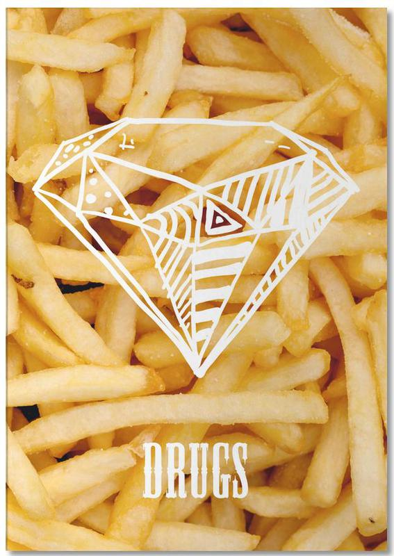 Diamonds and French Fries Notepad
