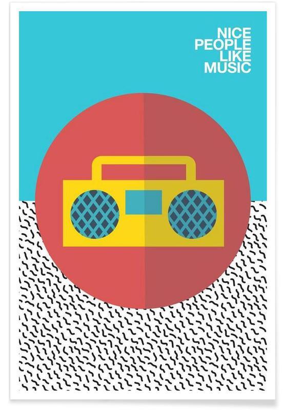 , Nice people Like Music affiche