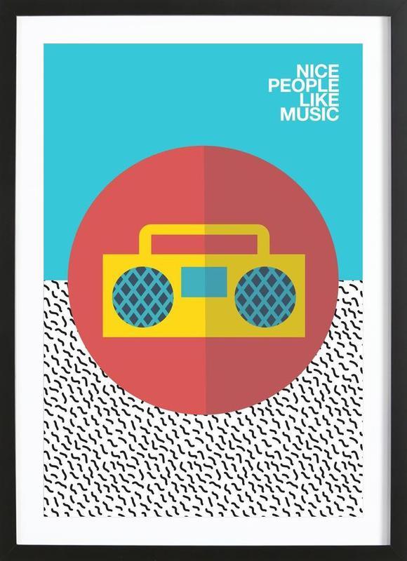 Nice people Like Music Framed Print