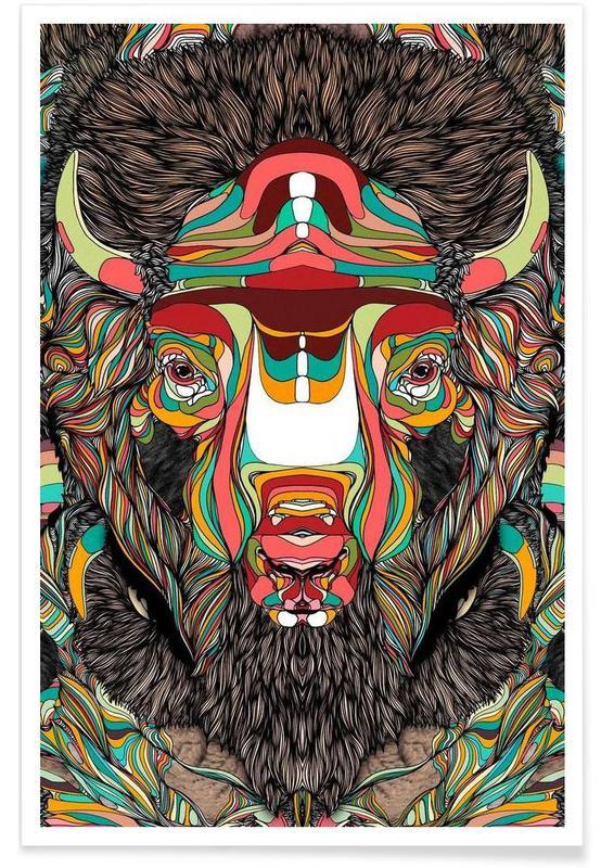 Buffels, Bison poster