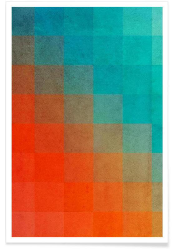 Beach Pixel Surface -Poster