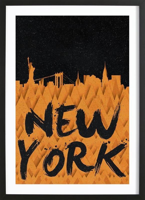 New York ingelijste print
