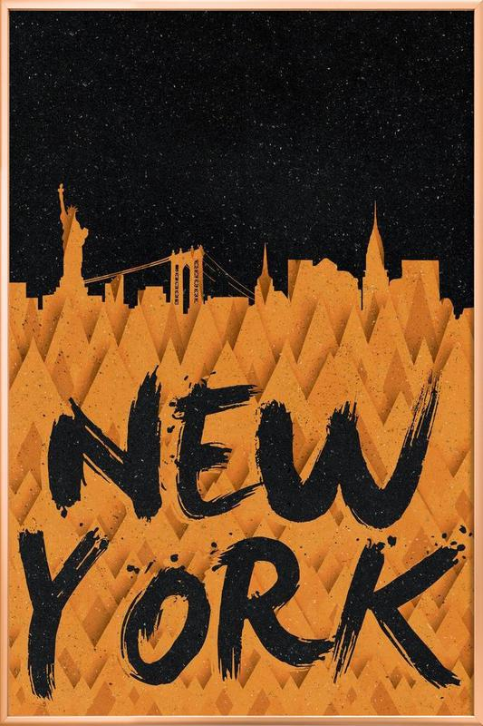 New York poster in aluminium lijst