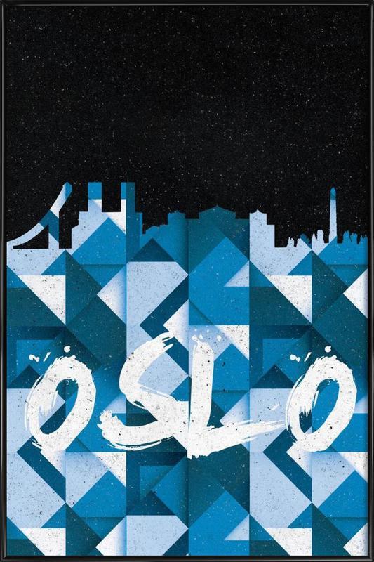 Oslo ingelijste poster