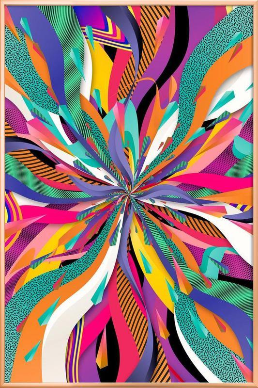 Pop Tunnel -Poster im Alurahmen