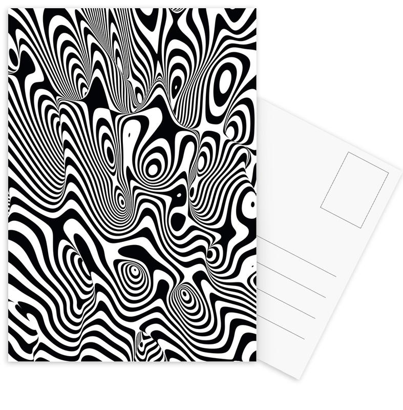 Trippy Background Postcard Set