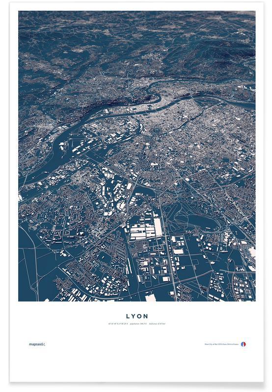 Football City - Lyon Poster