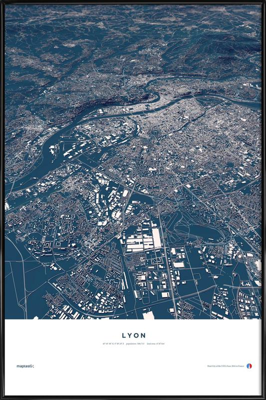 Football City - Lyon Framed Poster