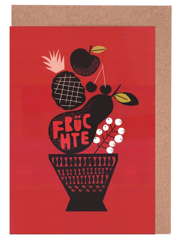 , Fruit -Grußkarten-Set