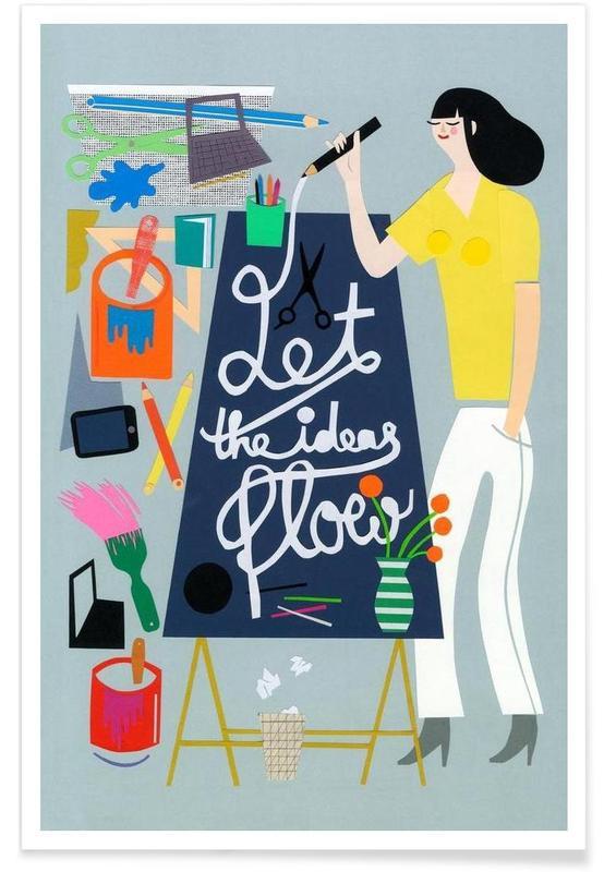 Art pour enfants, Let The Ideas Flow affiche