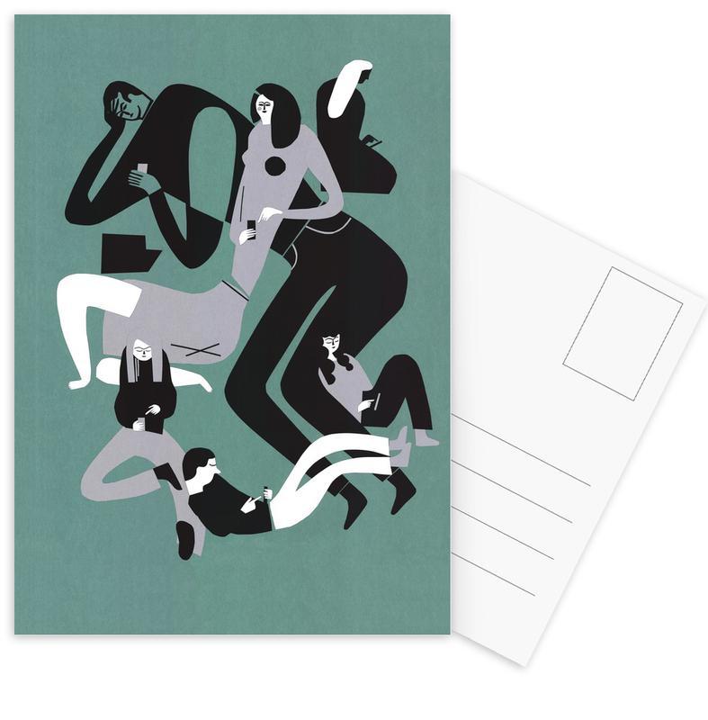Gruppen, Connected -Postkartenset