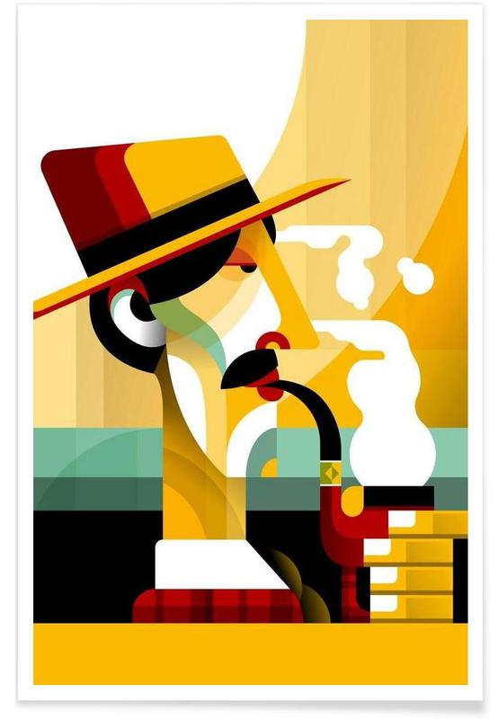 Retro, A man with a pipe Poster