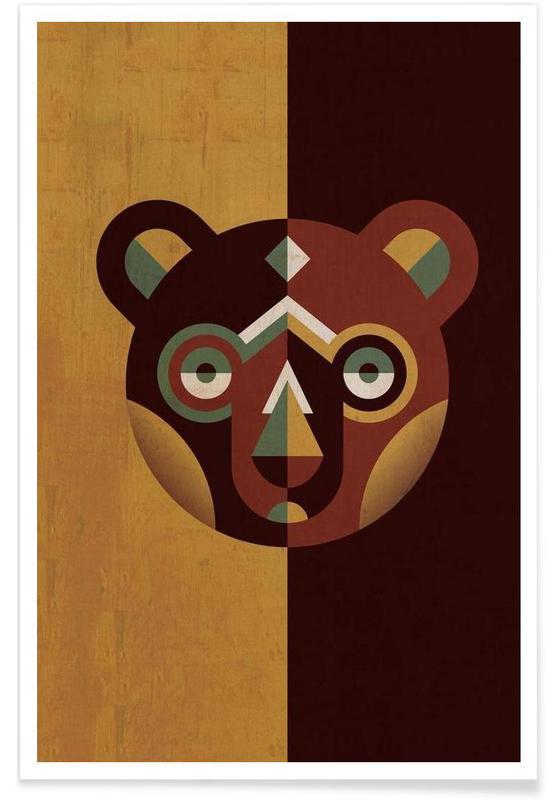 Nursery & Art for Kids, Bear Poster