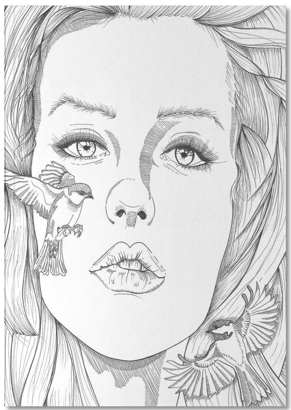 Zwart en wit, Portretten, What's on your mind, little bird? Notebook
