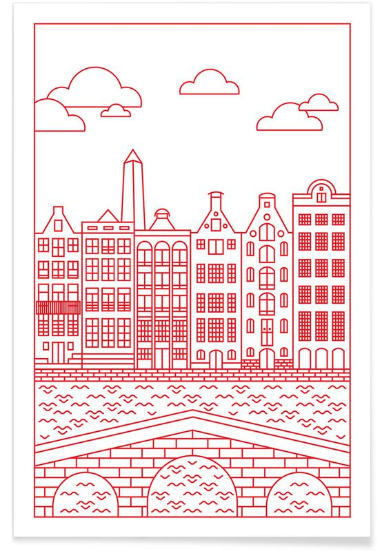 Amsterdam, Reise, Amsterdam -Poster