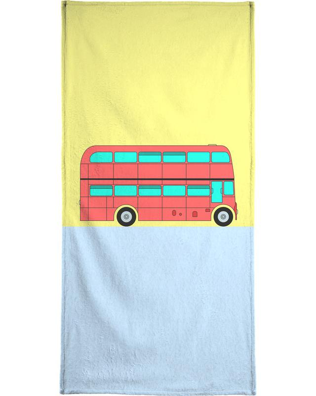 London Bus Tour Beach Towel