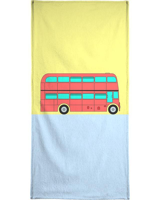 London Bus Tour Bath Towel