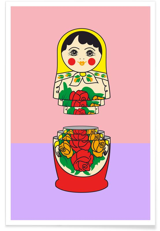 Art pour enfants, Matrioshka affiche