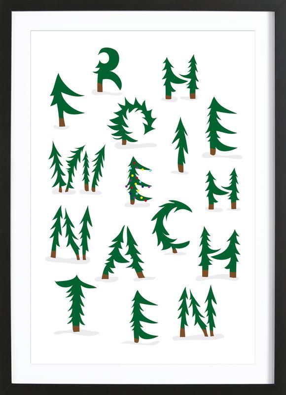 Weihnachten -Bild mit Holzrahmen
