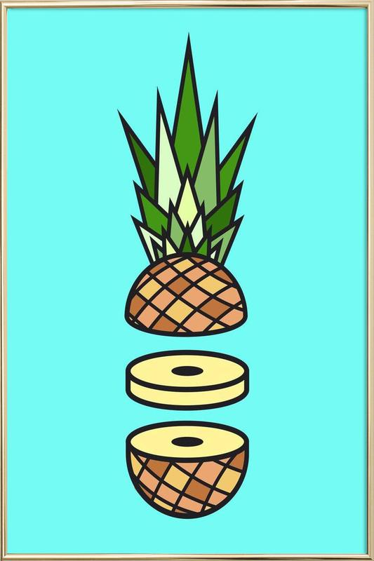 Pineapple Poster in Aluminium Frame