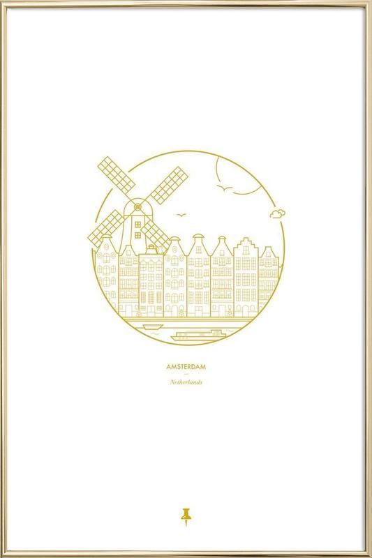 Amsterdam Poster in Aluminium Frame
